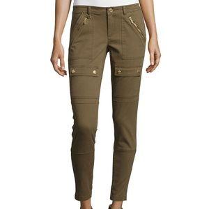 MICHAEL Michael Kors Canvas Skinny Cargo Pants BLK